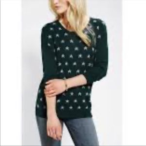 Cooperative UO Green Star Holiday Knit Sweater M